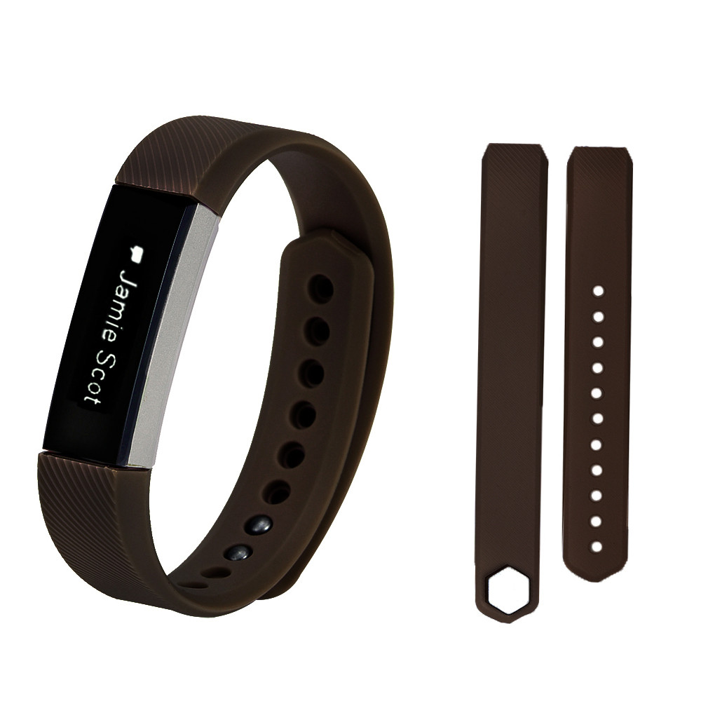 Replacement Wrist Band Soft Silicon Strap Clasp For Fitbit Alta HR Smart Watch BK