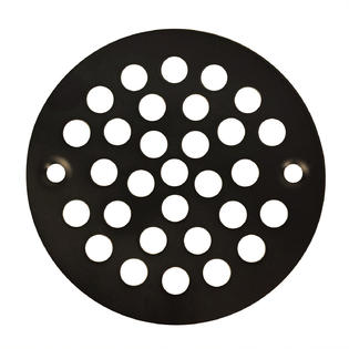 "Oil Rubbed Bronze Round Stamped Shower Grate Drain 4 1/4"" Replacement Cover Tile Stalls"