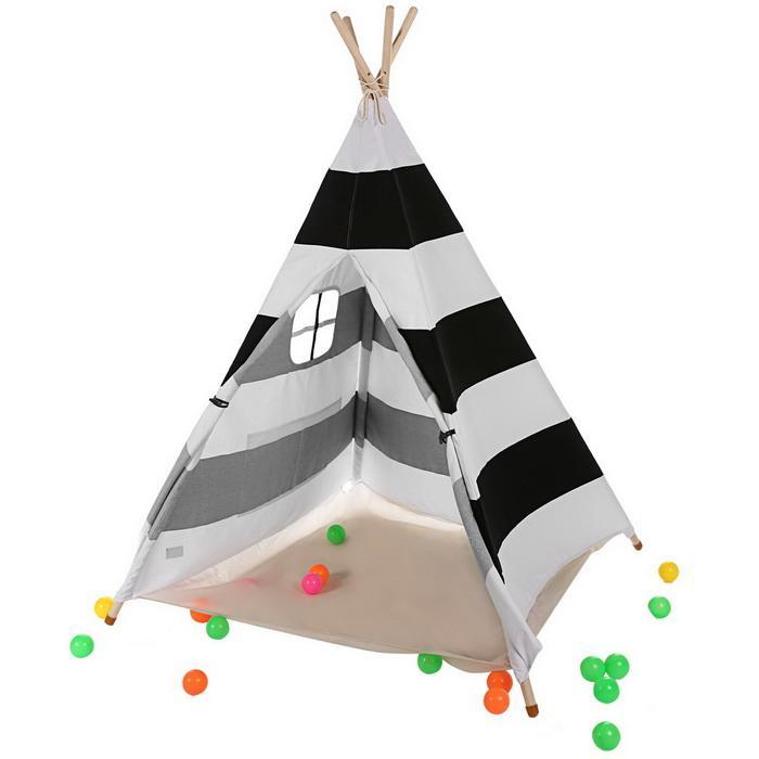 Kids Child Children Teepee Play Tents Indoor Playhouse Striped with Window