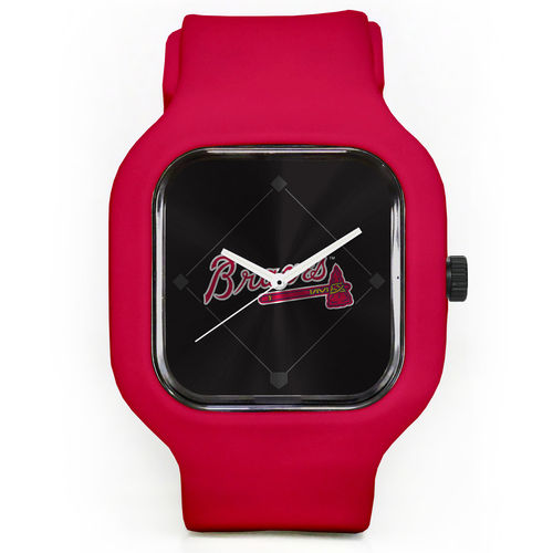 Unisex Modify Watches Red Atlanta Braves Silicone Watch