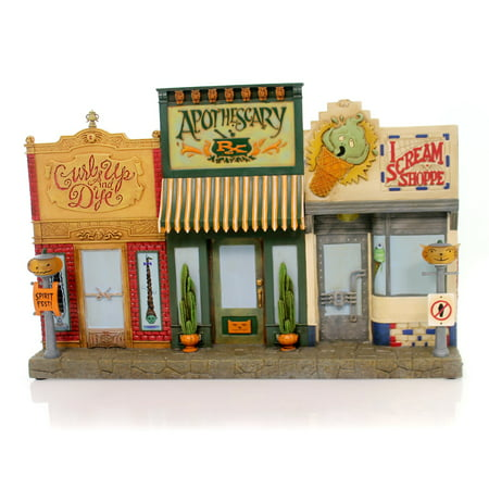 Halloween DEADWOOD STREET SHOPS Polyresin Apothescary I Scream Shoppe Ta9014