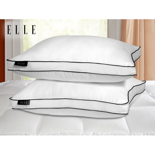 Elle 1200 Thread Count Cotton Rich Down Alternative Jumbo Pillow 2 Pack