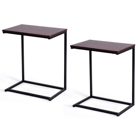 Gymax 2PCS 26'' Laptop Holder Sofa Side End Table C Table Home Office