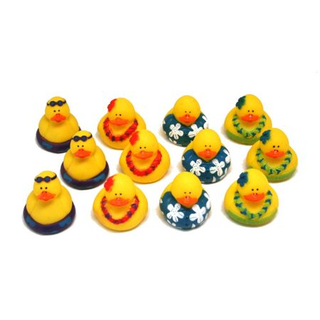 Fun Express Rubber Luau Duckies Hawaiian Hula Toy (12 Piece)](Christmas Rubber Duckies)