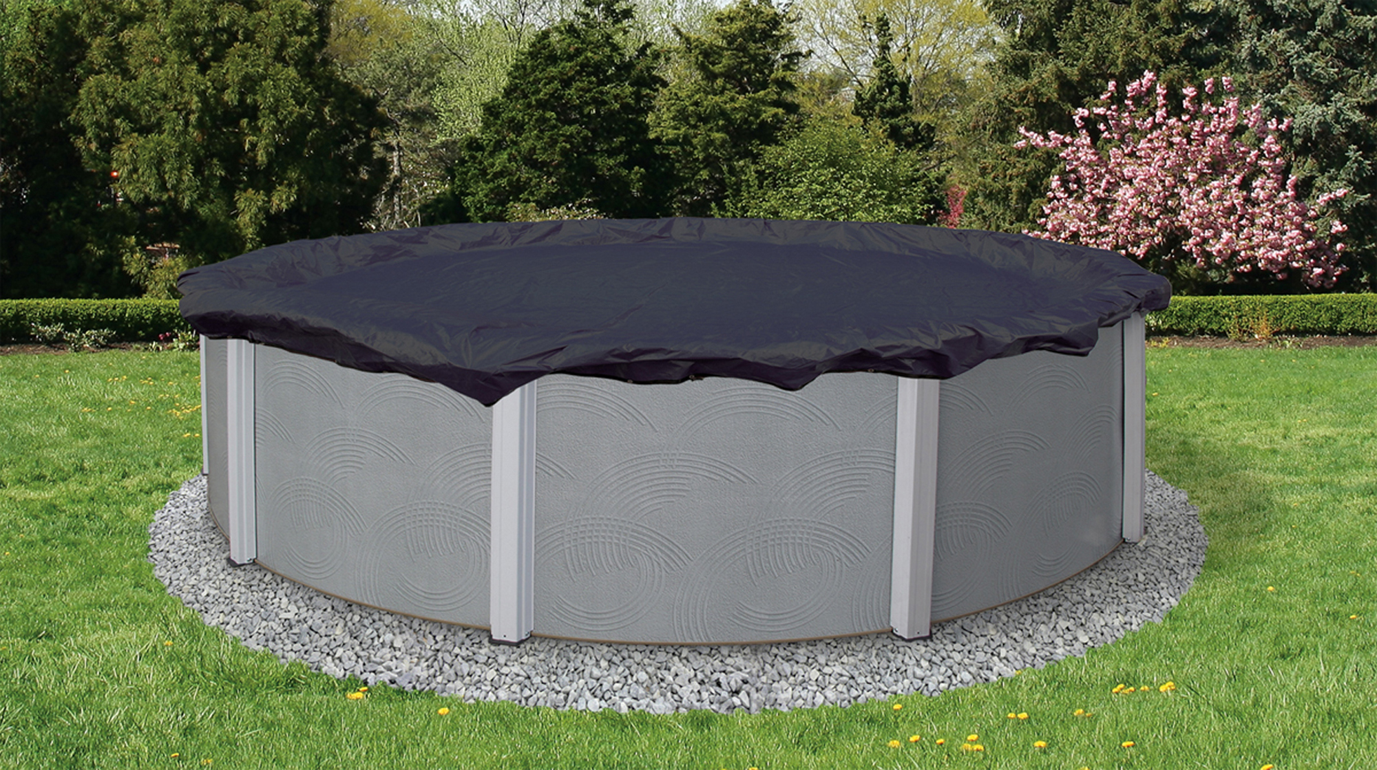 Blue Wave Bronze 8-Year 18-ft Round Above Ground Pool Winter Cover by Blue Wave