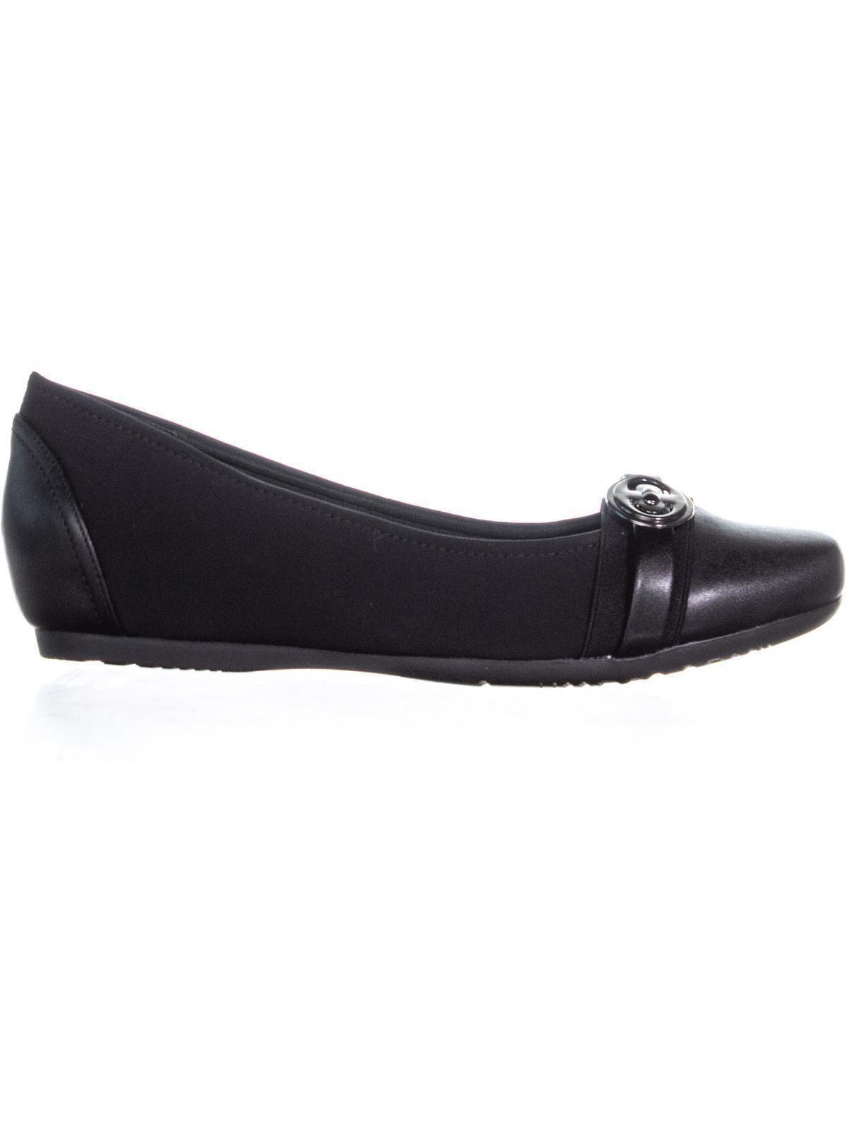 Womens BareTraps Black, Miana Slip On Ballet Close Toed Flats, Black, BareTraps 11 W US 428c36