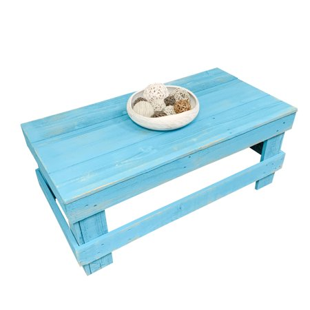 Del Hutson Designs Turquoise Barnwood Coffee Table