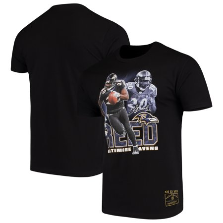 Ed Reed Baltimore Ravens Mitchell & Ness Retired Player Graphic T-Shirt - (Baltimore Ravens Best Players)