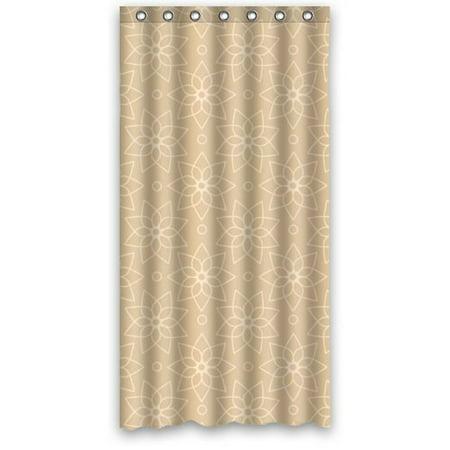 Greendecor simple light color in beige waterproof shower for Beige bathroom accessories set