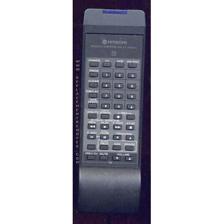 Substitute for HITACHI 5614661 (p/n: 5614661) VCR Remote Control: HITACHI VTRM121A (p/n: 5614652) (refurbished)