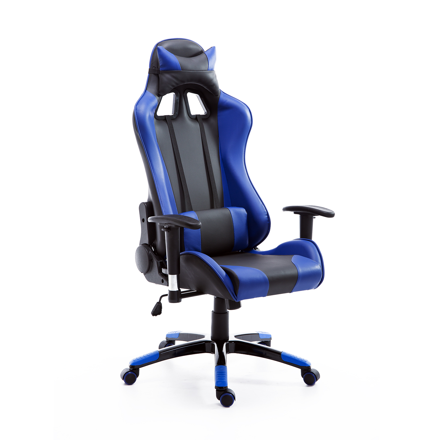 Office Chairs Walmart >> HomCom Reclining Gaming Racing Office Chair - Blue / Black - Walmart.com