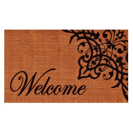 "Calloway Mills Scroll Welcome Outdoor Doormat 17"" x 29"""