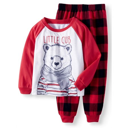 Polar Bear Family Sleep Pajamas, 2-piece Set (Toddler Boys or Toddler Girls Unisex)