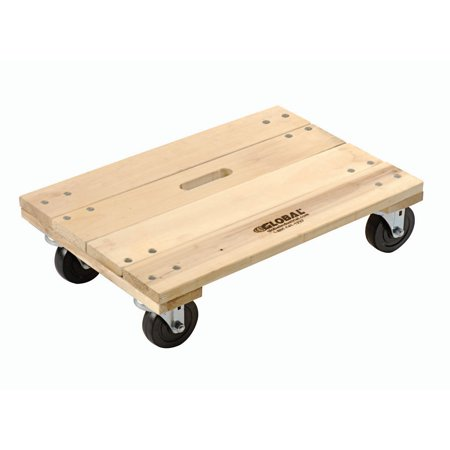 Hardwood Dolly - Solid Deck, 24 x 16, 1200 Lb. Capacity, Lot of 1