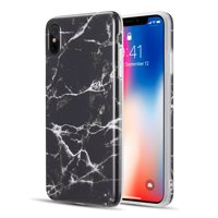 For Apple iPhone XS Max Case, by Insten Marble TPU Rubber Candy Skin Case Cover For Apple iPhone XS Max