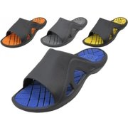 Easy USA M7717 Mens Soft Rubber Slide Sport Sandals - 36 Pairs