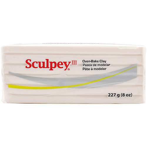 Sculpey III Polymer Clay 8 Ounces-Translucent