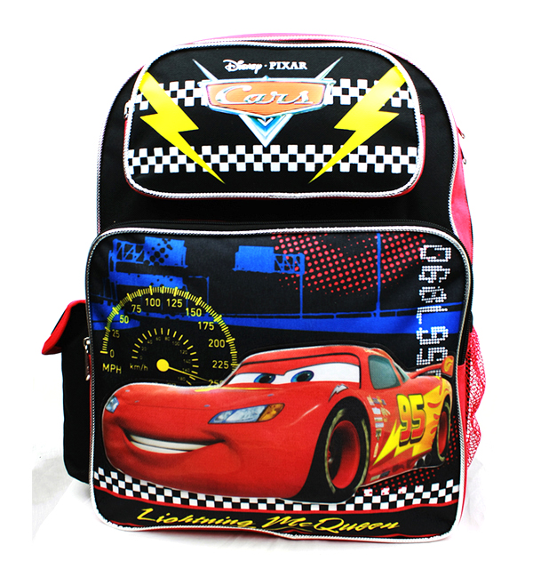 Backpack Disney Cars Lightning McQueen Black New A08495 by Accessory Innovations