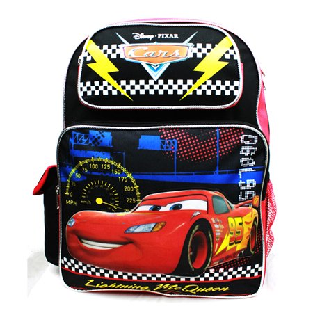 Backpack - Cars - Lightning McQueen Black New A08495 (Lightning Mcqueen Sleeping Bag)