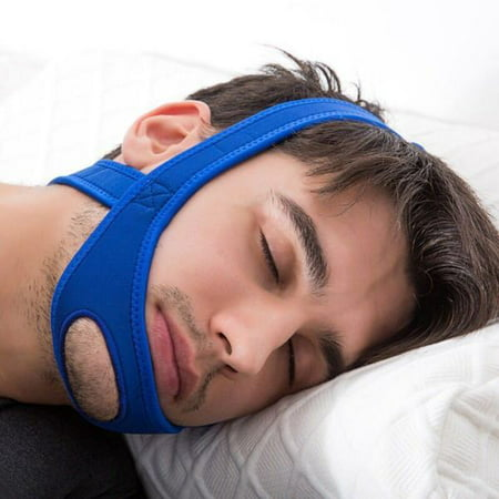 Snore Relief Adjustable Chin Strap - Open Chin Neoprene Stop Snoring Chin Strap - Sleep Apnea TMJ Support