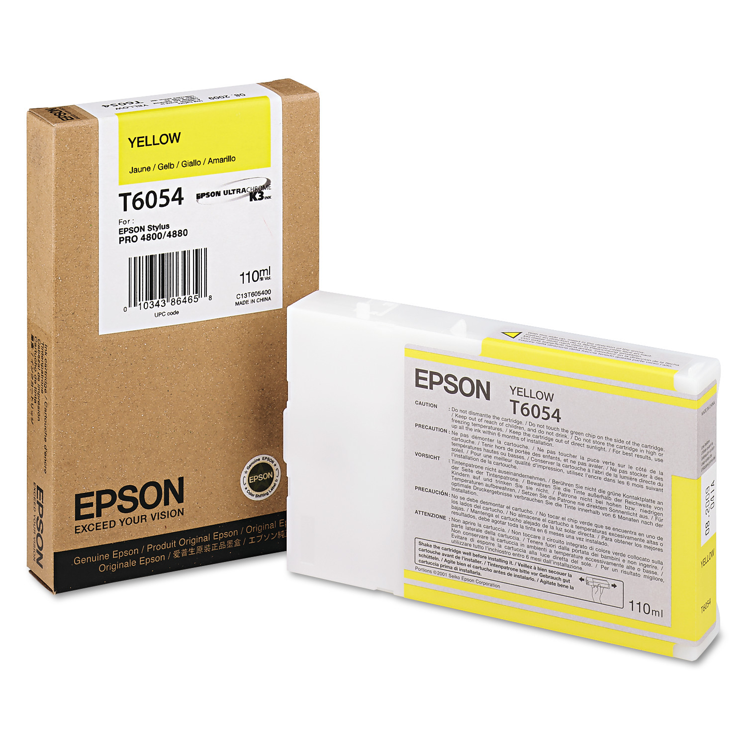 Epson T605400 (60) Ink, Yellow