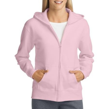 Hanes Athleisure ComfortSoft EcoSmart Women's Full-Zip Hoodie Sweatshirt (White Hollister Sweatshirt)