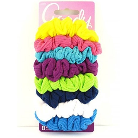 Goody Ouchless Hair Scrunchie Jersey Variety - 8 Pcs. (Colors May Vary)