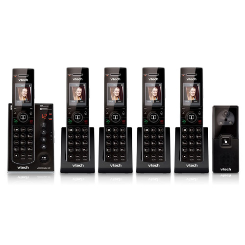 Vtech IS7121-2 + (3) IS7101 5 Handset Cordless Video Phon...