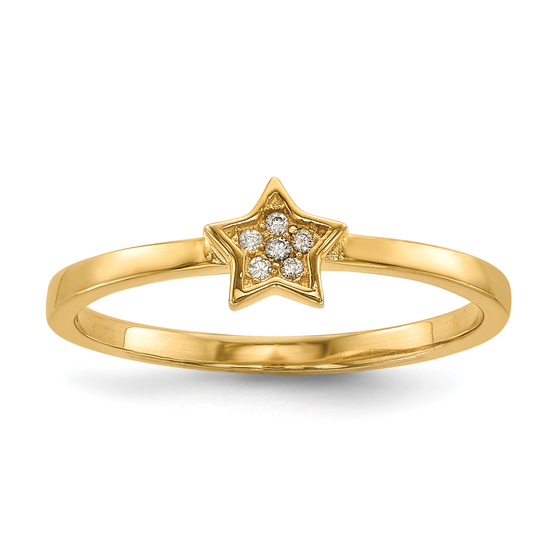 925 Sterling Silver Plate Gold Rose Tone Star Cross Religious Cubic Zirconia Cz 3 Band Ring Set Size 7.00 S/love Sun/moon/star Fine Jewelry Gifts For Women For Her - image 7 de 9