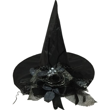 Flower Hats For Halloween (Morris Costumes Witch Flower Black Hat, Style)