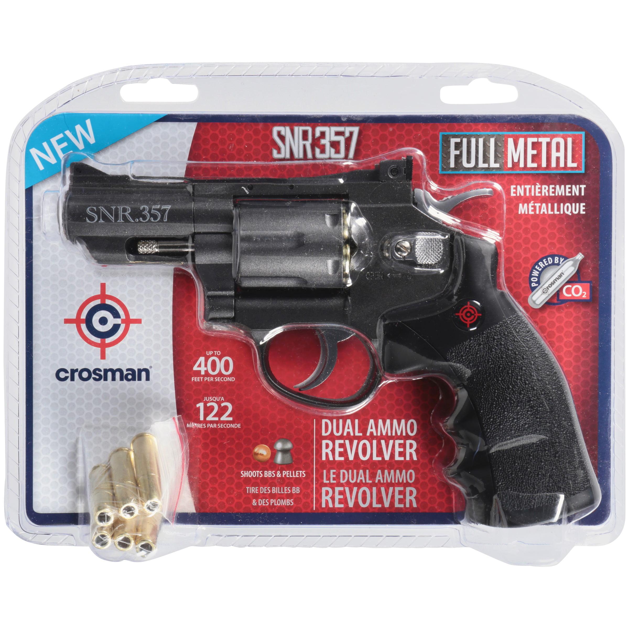 Crosman SNR357 Full Metal Dual Ammo Snub Nose C02 Air Revolver,  177