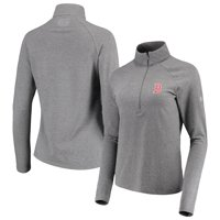 638a253a Product Image Boston Red Sox Under Armour Women's Passion Performance  Tri-Blend Raglan Half-Zip Pullover