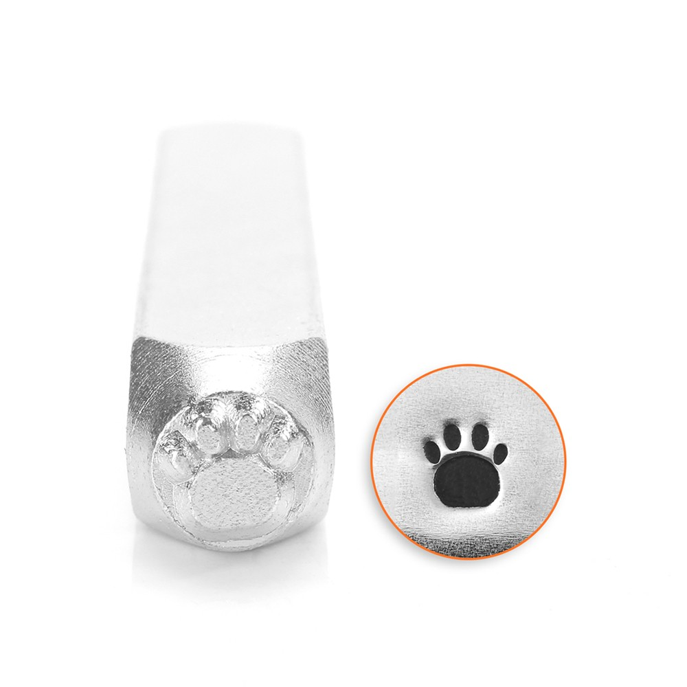 ImpressArt Paw Print Punch Stamp for Metal 1/4 6mm - 1 Piece