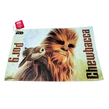 Star Wars Golf Fan Towel Chewbacca and Porg Golfing Bag Accessory Cotton Terry