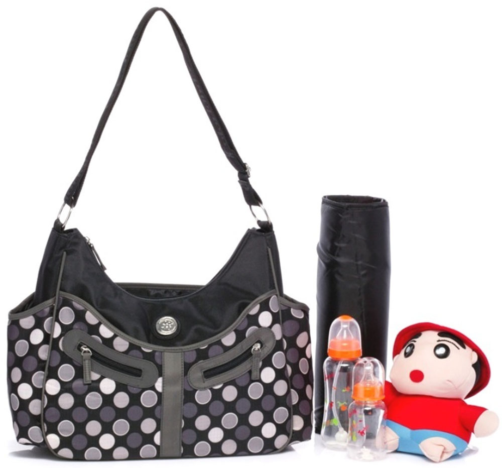 Colorland Vicky Hobo Diaper Bag, Grey Polka
