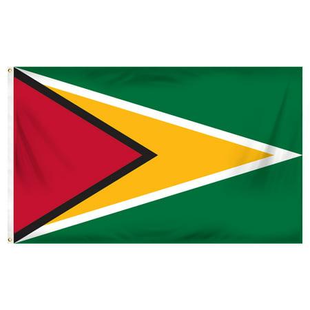 Guyana 3ft x 5ft Printed Polyester (Guyana Country Flag)