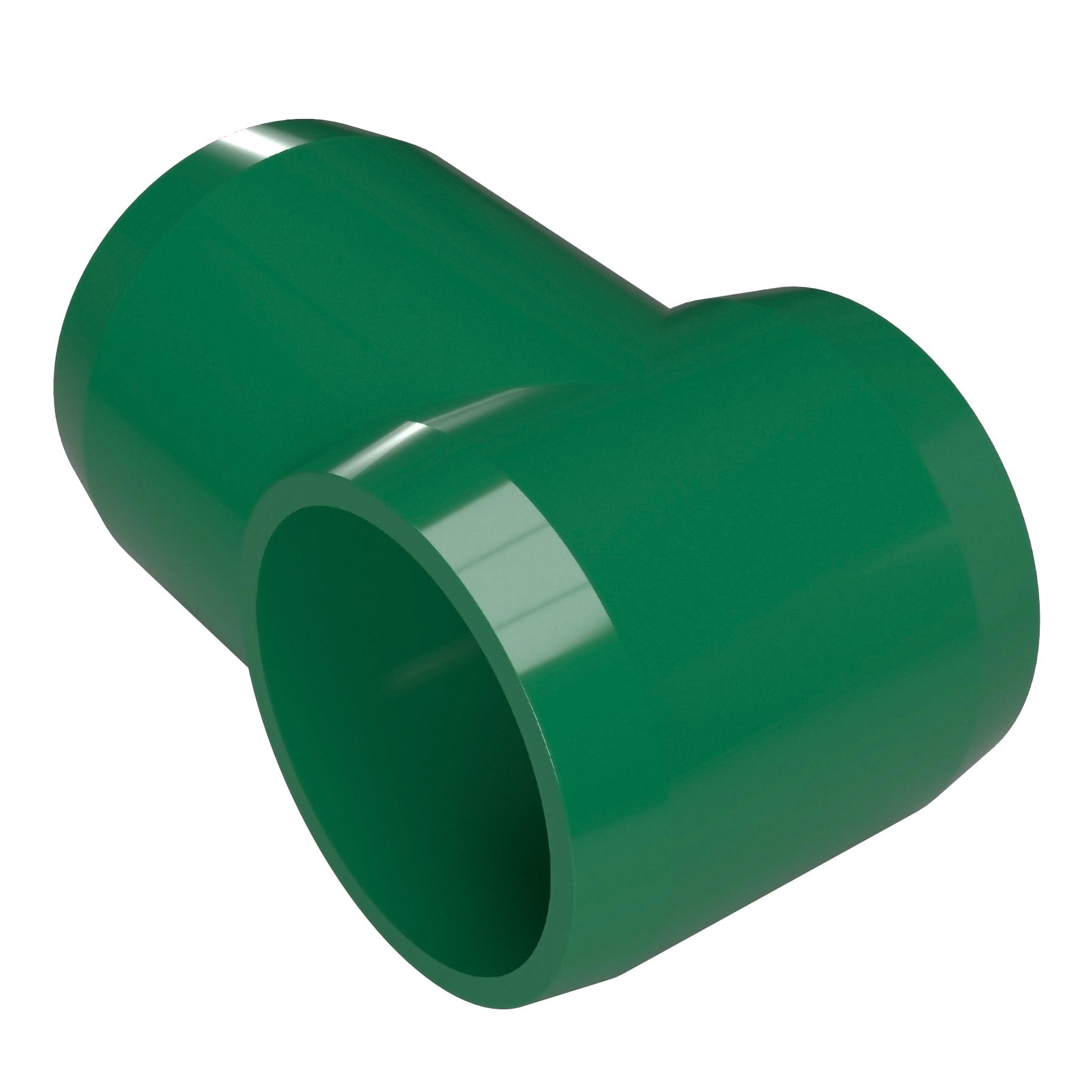 FORMUFIT F114STE-GR-4 Slip Tee PVC Fitting, Furniture Grade, 1-1/4 in. Size, Green , 4-Pack
