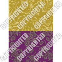 Nunn Design Transfer Sheet Wheat/Violet Floral For Scrapbook -Fits Patera