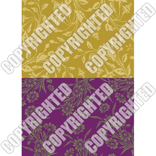 Nunn Design Transfer Sheet Wheat/Violet Floral For Scrapbook -Fits Patera