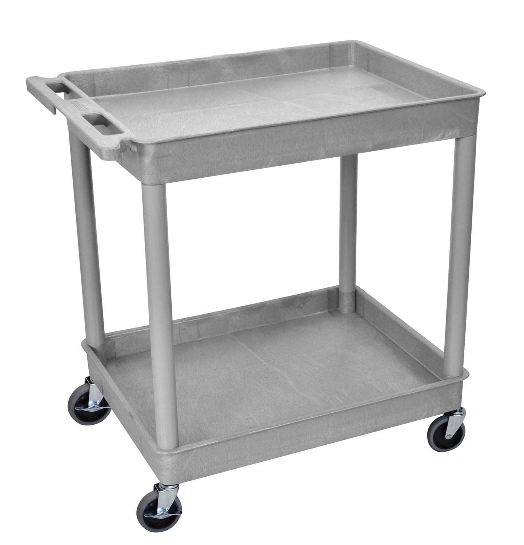 Luxor Large 2-Tub Shelves Cart
