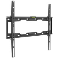 Barkan 19 - 65 inch Fixed Flat / Curved TV Wall Mount Black Auto Locking Patent Very Low Profile Extra Stable Lifetime Warranty