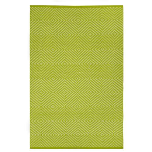 Fab Habitat Indo Hand-woven Zen Green/ White Contemporary Geometric Area Rug (3' x 5')