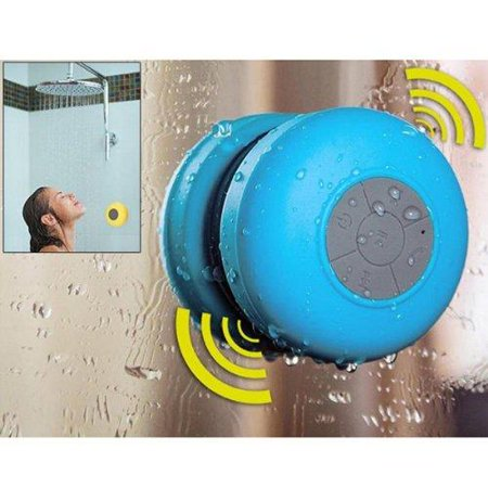 AGPtek Silicone Waterproof Wireless Bluetooth Hands-Free Speakerphone For Shower Pool Car (stick to any flat surface)