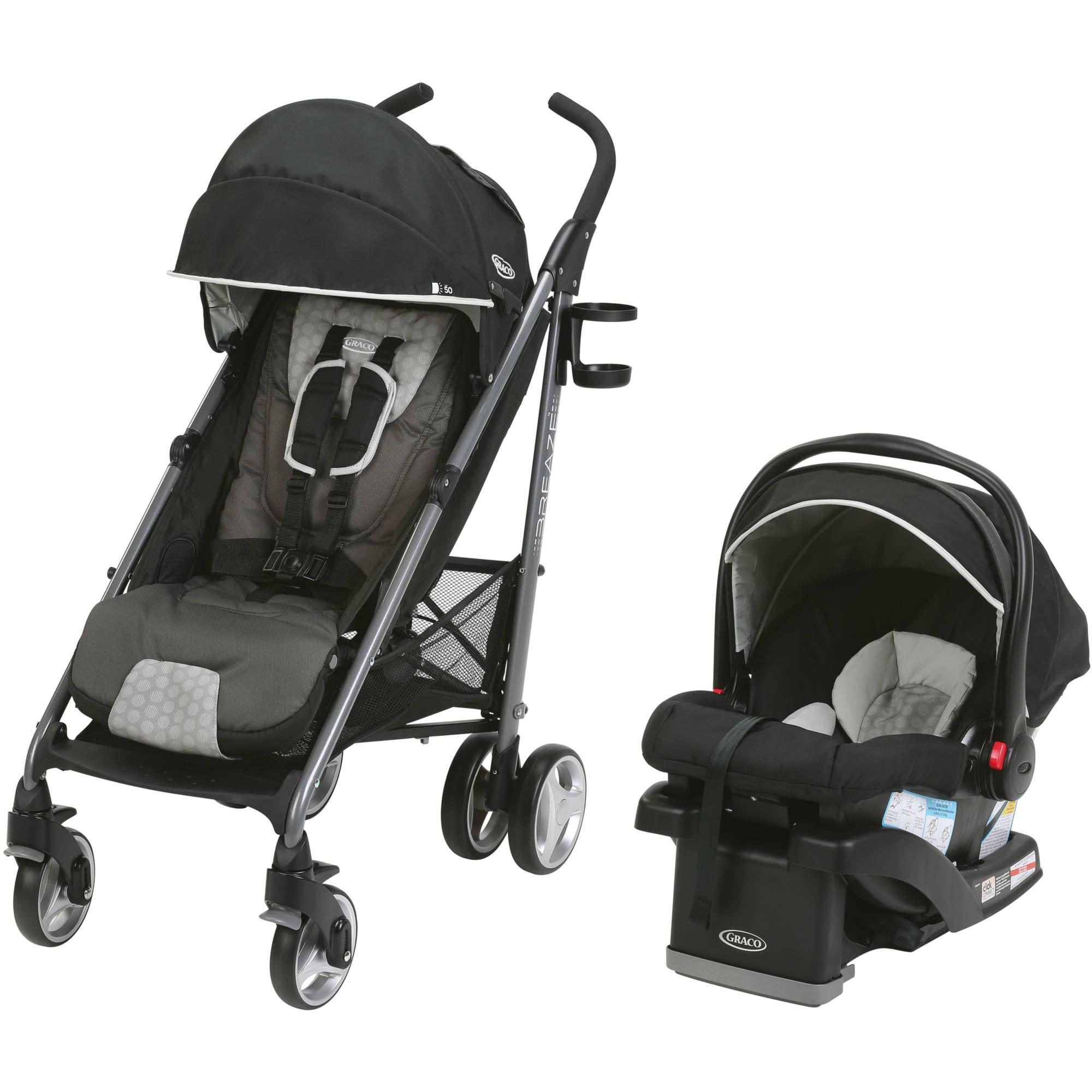 Graco Breaze Travel System Stroller with SnugRide Click Connect 35 Infant Car Seat, Davis
