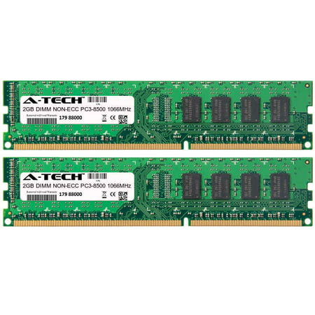 4GB Kit 2x 2GB Modules PC3-8500 1066MHz NON-ECC DDR3 DIMM Desktop 240-pin Memory