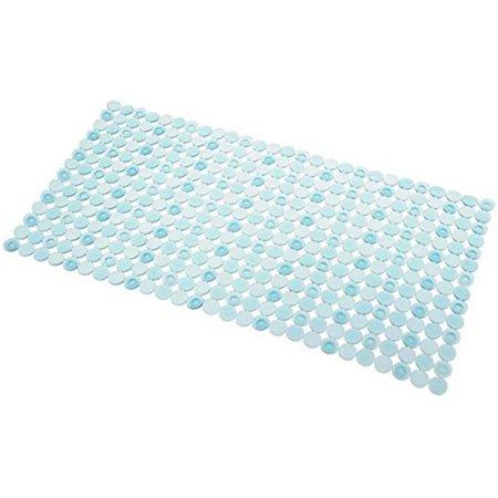 InterDesign 80311 27 x 14 in. Orbitz Non-Slip Suction Bath Mat - Blue