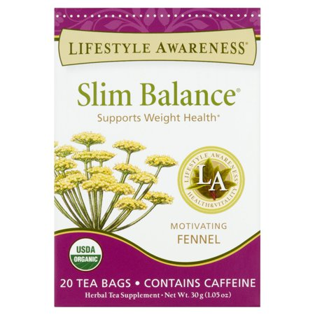 Lifestyle Awareness Slim Balance Motivating Fennel Tea Bags, 20 count, 1.05 oz, 6 pack