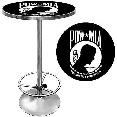 Trademark POW 42″ Pub Table, Chrome
