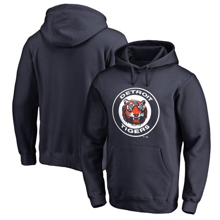Detroit Tigers Fanatics Branded Cooperstown Collection Huntington Pullover Hoodie - Navy Detroit Tigers Youth Fleece Pullover