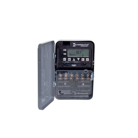 Intermatic ET8215C 7-Day 30-Amps 2XSPST OR DPST Electronic Astronomic Time Switch, Clock Voltage 120-Volt - 277-Volt NEMA 1